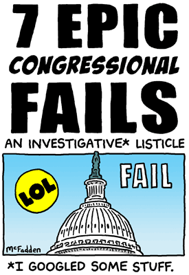 7 Epic Congressional Fails